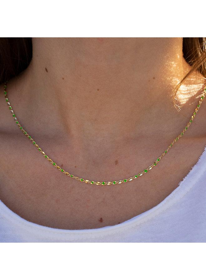 ONE DAY Charity Halskette grün