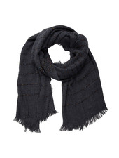 Jozemiek ® Black scarf, stripe with Cashmere touch