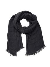 Jozemiek ® Schwarzer Schal, Streifen mit Cashmere-Touch