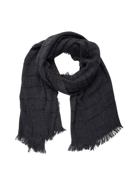 Jozemiek ® Sjaal zwart, streep with Cashmere touch