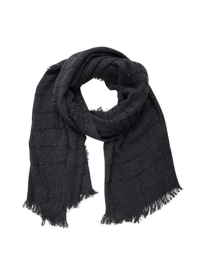 Schwarzer Schal, Streifen mit Cashmere-Touch