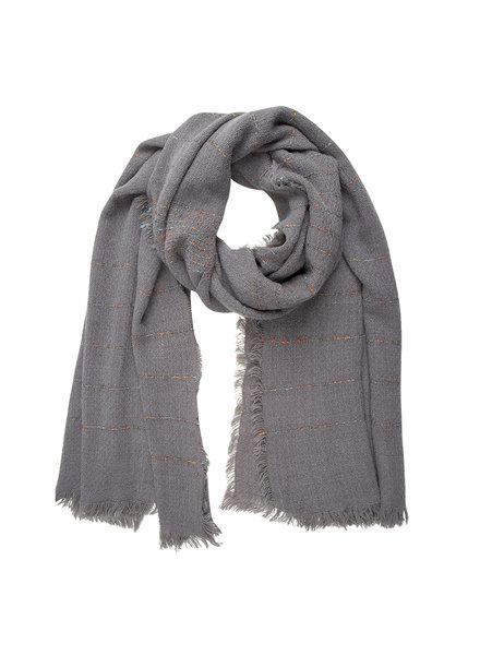Jozemiek ® Sjaal grijs, streep with Cashmere touch