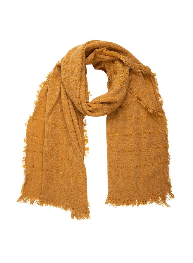 Shawl ocher, Cashmere touch stripe