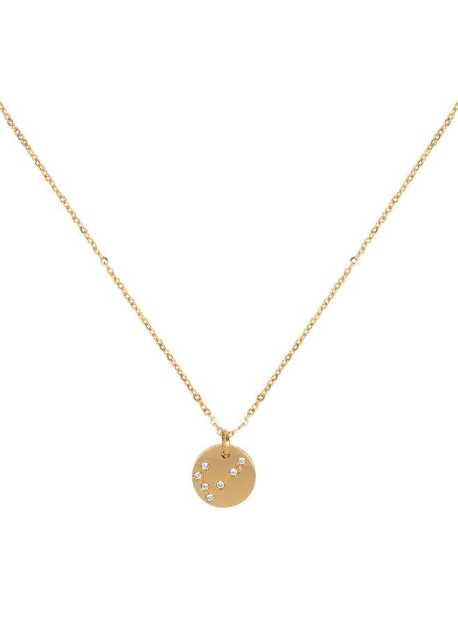 Halskette Sternbild Fische (  aus Edelstahl mit 18 Karat Gold überzogen)