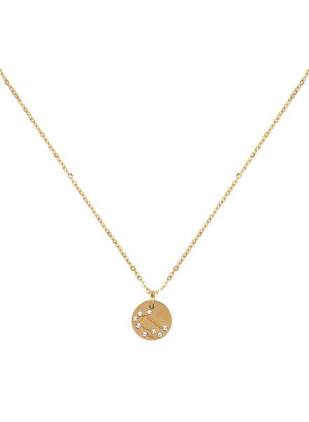 Jozemiek ® Tweeling  Sterrenbeeld ketting (stainless-steel  verguld met 18k goud )