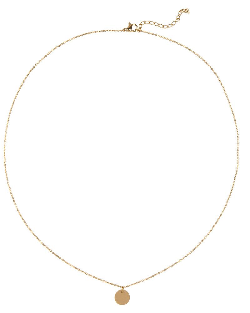 Jozemiek ® Jozemiek Tweeling  ketting  ,stainless-steel plated with 18k gold met giftcard en envelop.
