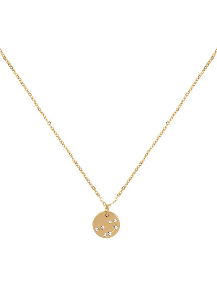 Jozemiek ® Weegschaal Sterrenbeeld ketting (stainless-steel  verguld met 18k goud )