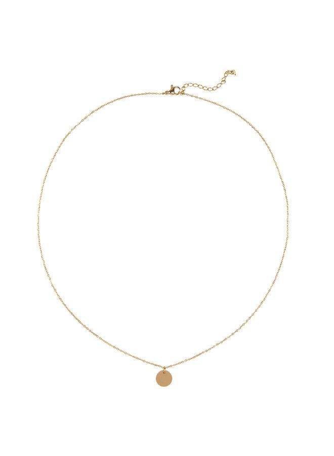 Halskette Jozemiek Libra, Edelstahl vergoldet mit 18 Karat Gold, mit Geschenkkarte und Umschlag.