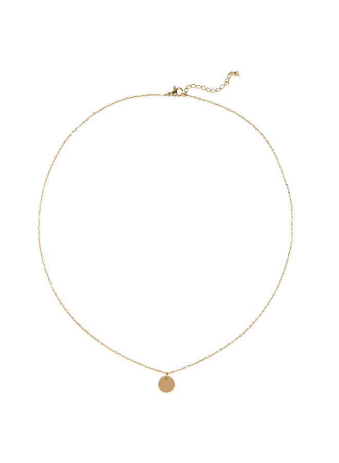 Jozemiek Libra necklace, stainless steel plated with 18k gold with gift card and envelope.