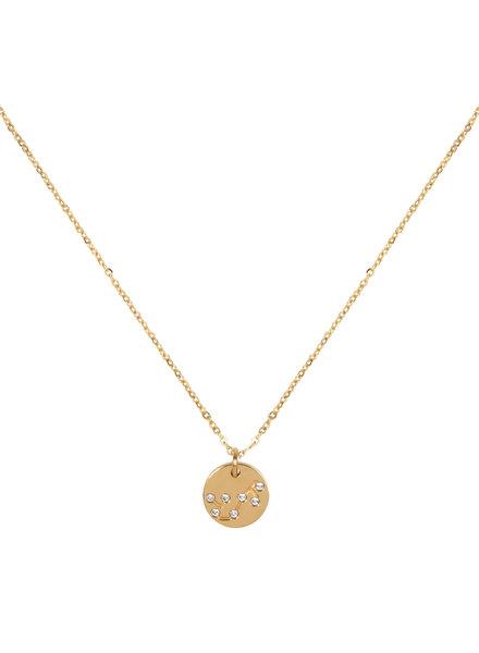 Jozemiek ® Halskette Sternbild Skorpion (  aus Edelstahl mit 18 Karat Gold überzogen)