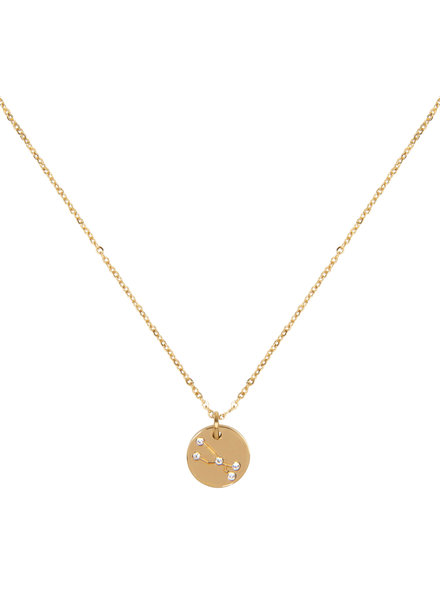 Jozemiek ® Taurus zodiac pendandt  necklace (stainless steel plated with 18k gold)