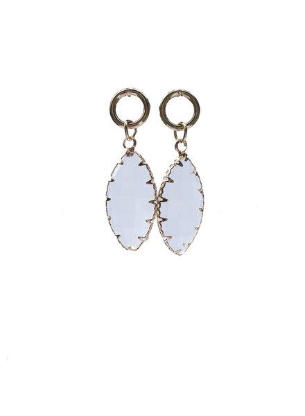 Jozemiek ® Earring Oval Crystal Transparent