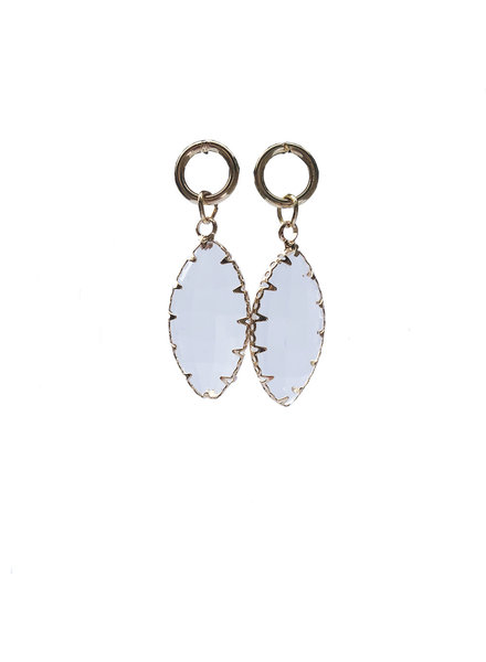 Jozemiek ® Ohrring Oval Crystal Transparent