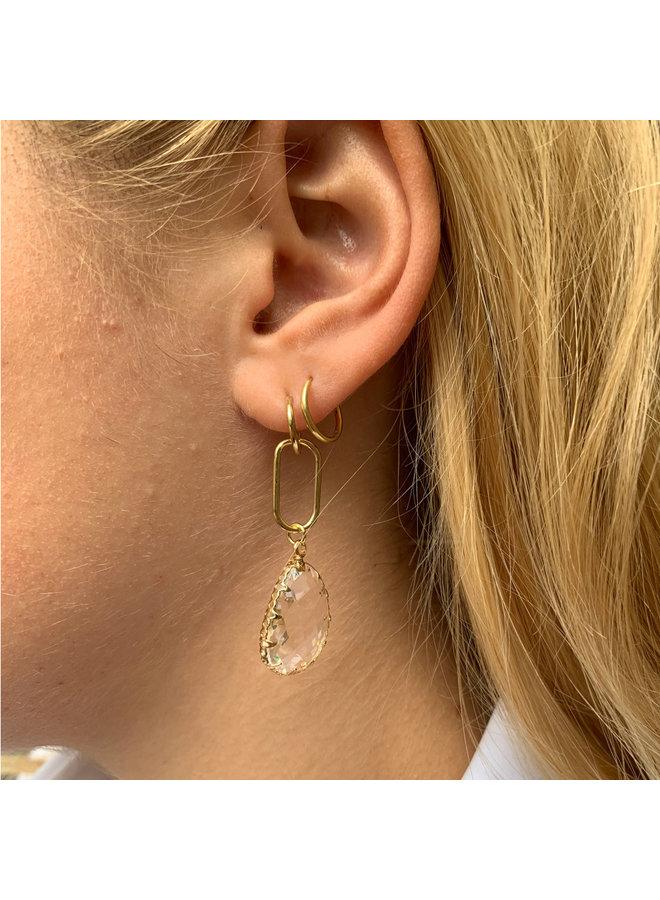 Jozemiek Earring Long Pendant Transparent