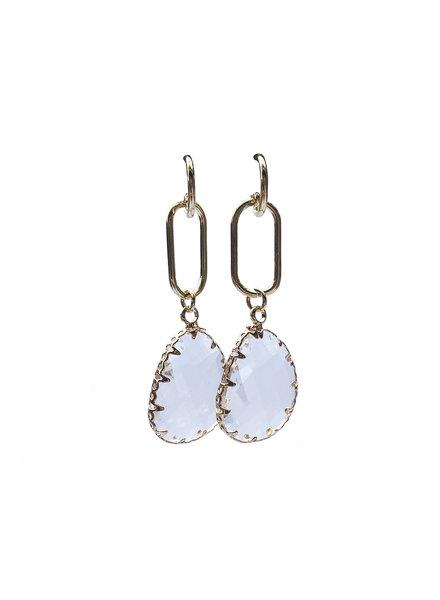 Jozemiek ® Earring Long Pendant Transparent