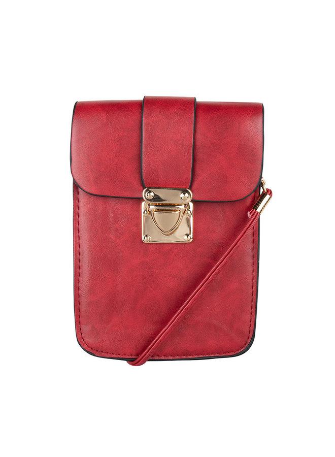 Langwerpig mini tasje -Rood