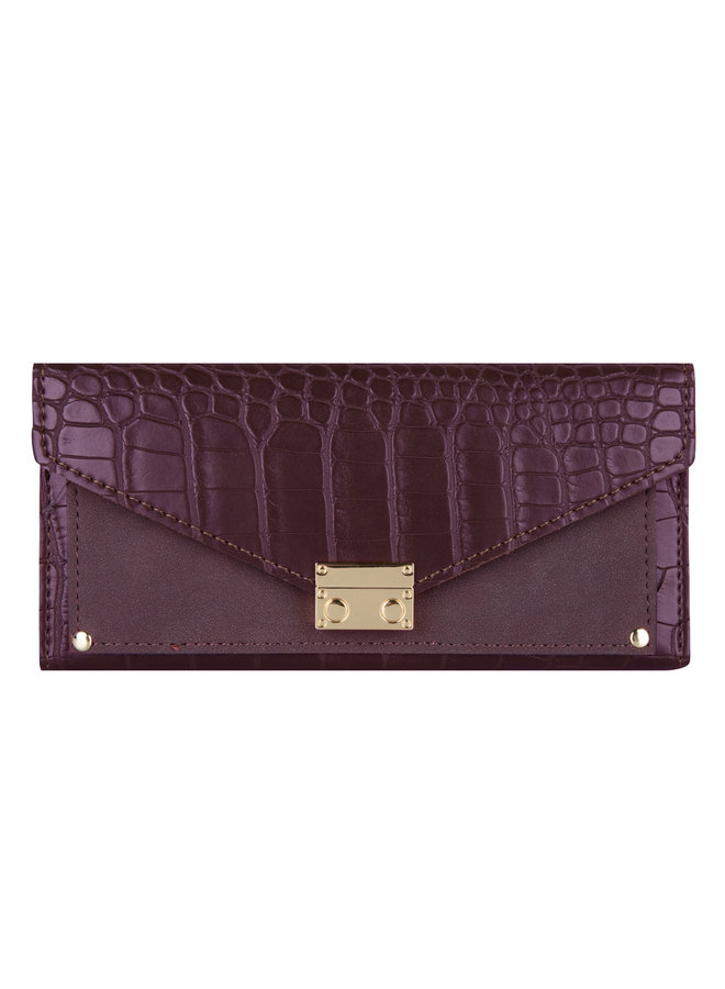 Croco wallet large-Red