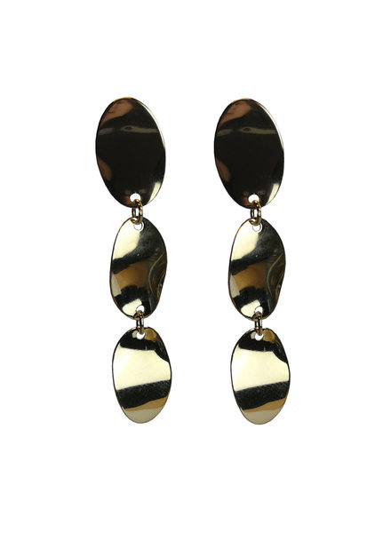 Jozemiek ® statement earring with 3 drops of gold