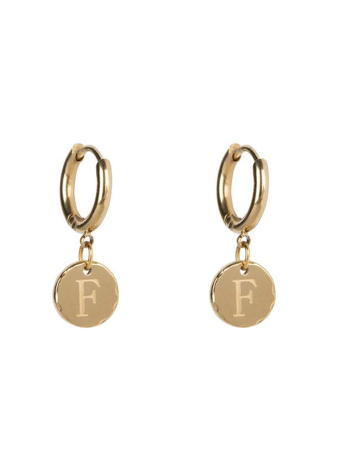 Ohrring klein mit 14 kg Goldbeschichtung aus Edelstahl