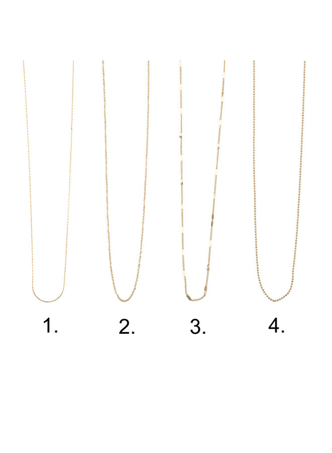 Jozemiek necklace with letter S stainless steel, 14k gold plating with free month stone