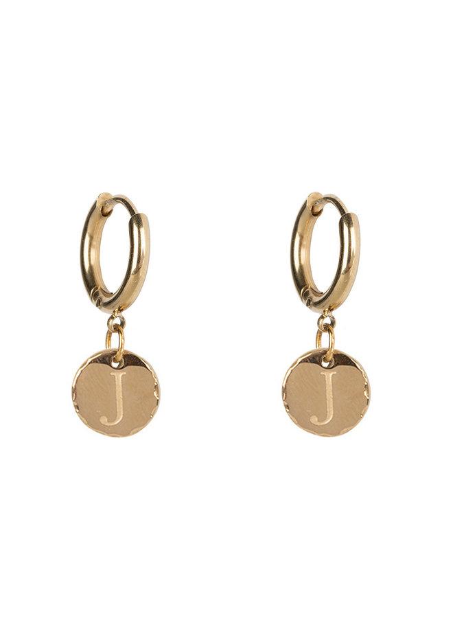 Jozemiek Ohrring mit anfänglicher 14 kg Goldbeschichtung aus rostfreiem Stahl klein