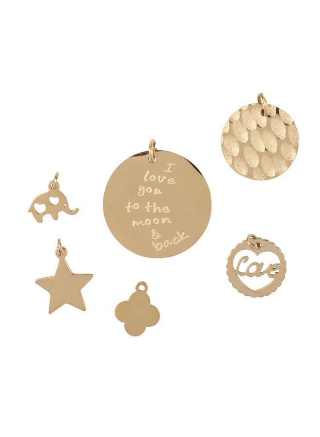 Jozemiek loose charms of stainles stem with 14k gold plating