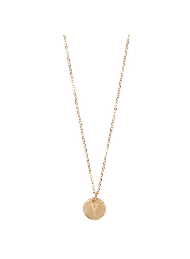 Jozemiek Halskette mit Edelstahl Y, 14 Karat Vergoldung mit freiem Monatsstein