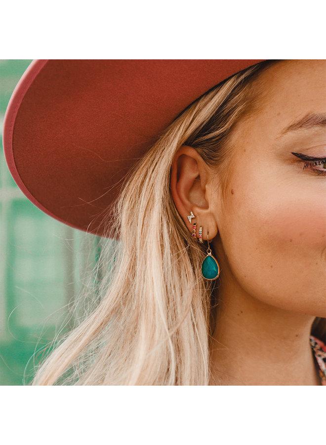 Wagen Sie es, fabelhafte Ohrringträne Smaragdgrün zu sein
