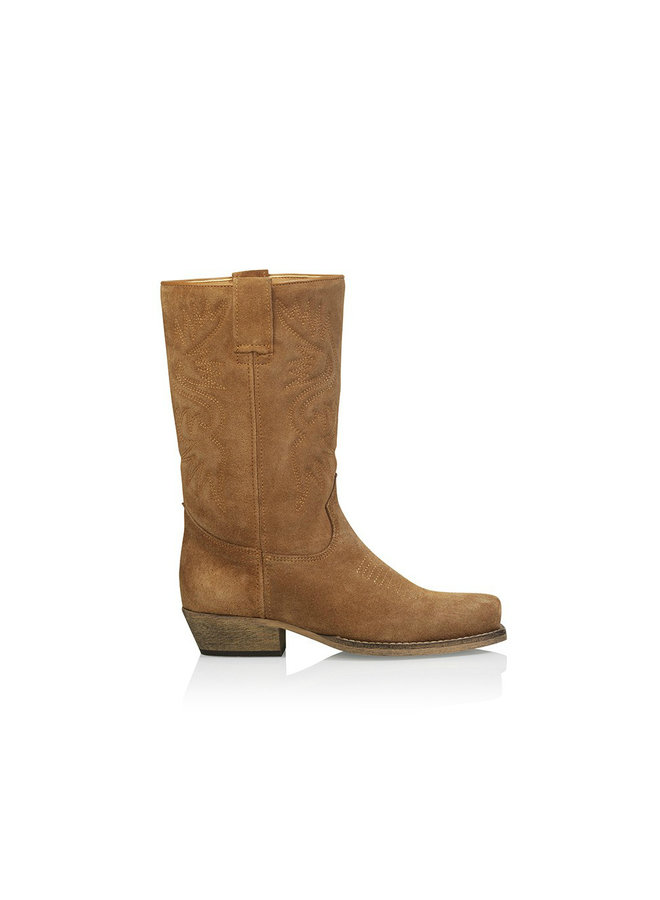 Boot DALLAS - Suede - cognac
