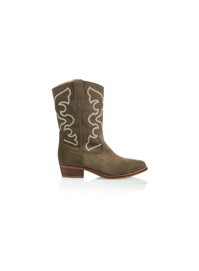 Florida boot - Suede - green