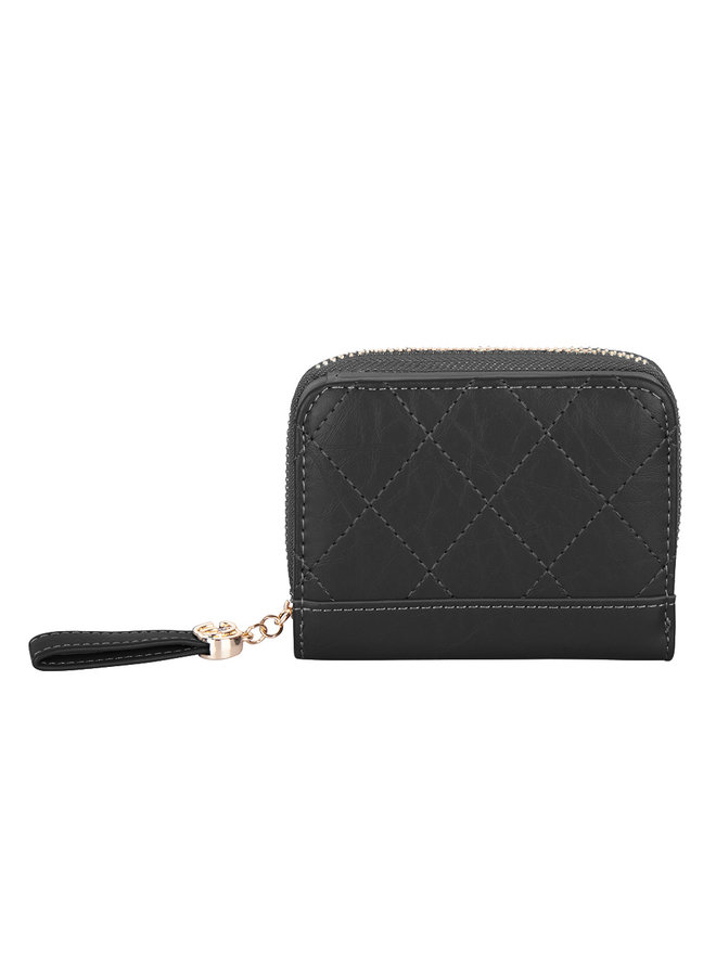 Compact wallet Kimmy -black