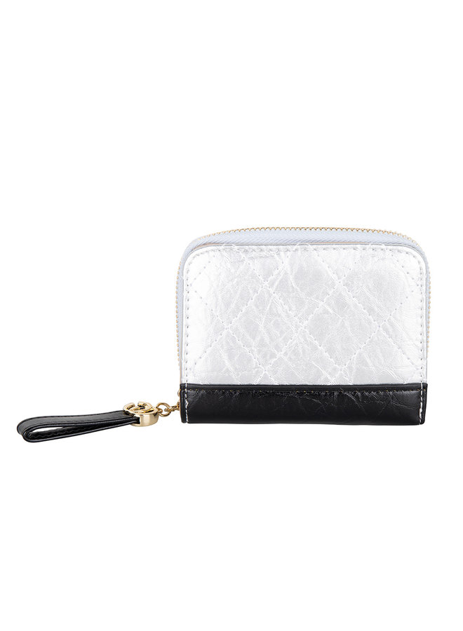 Kompakte Brieftasche Kimmy - Silber