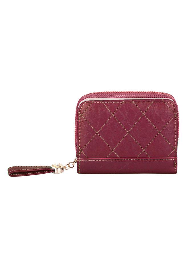 Kompakte Brieftasche Kimmy - Rot