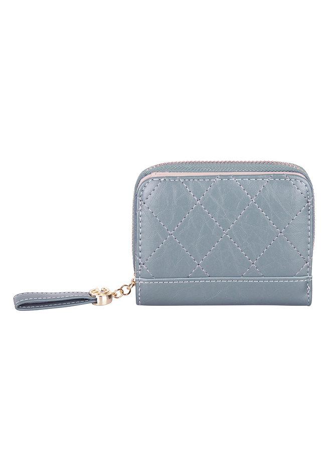Compacte portemonnee Kimmy - Blauw