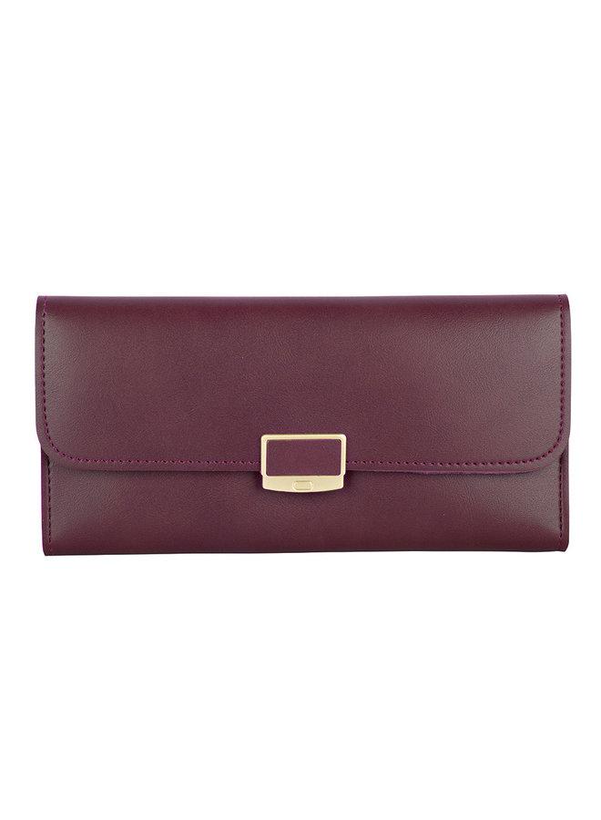 Klassische Brieftasche Iris - Bordeaux