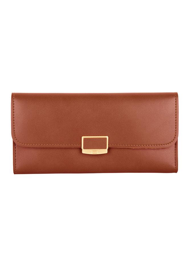 Klassische Brieftasche Iris - Braun