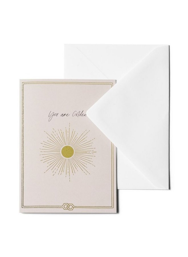 ME & MATS greeting card - You're Golden