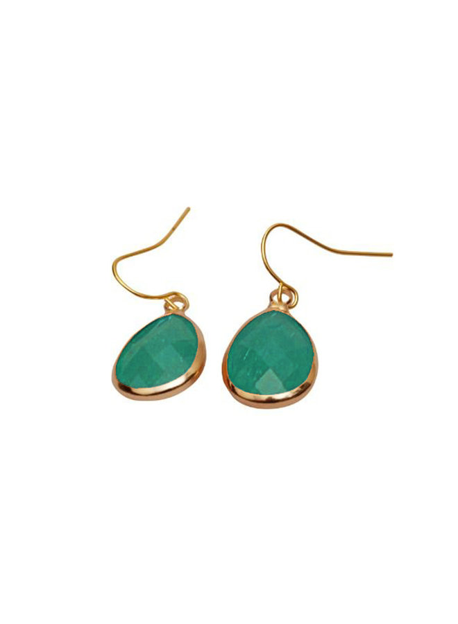Dare to be fabulous earring teardrop Emerald green