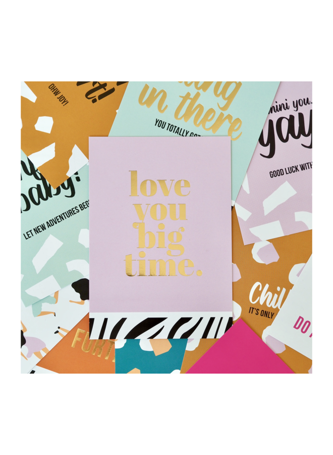 Studio Stationery greeting card- Love you big time