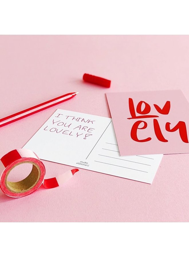 Studio Stationery greeting card- Lovely
