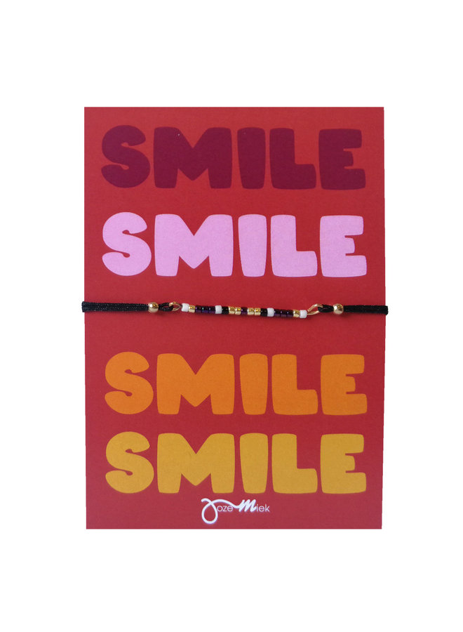 """beaded bracelet with free """"Smile."""" quote card"""