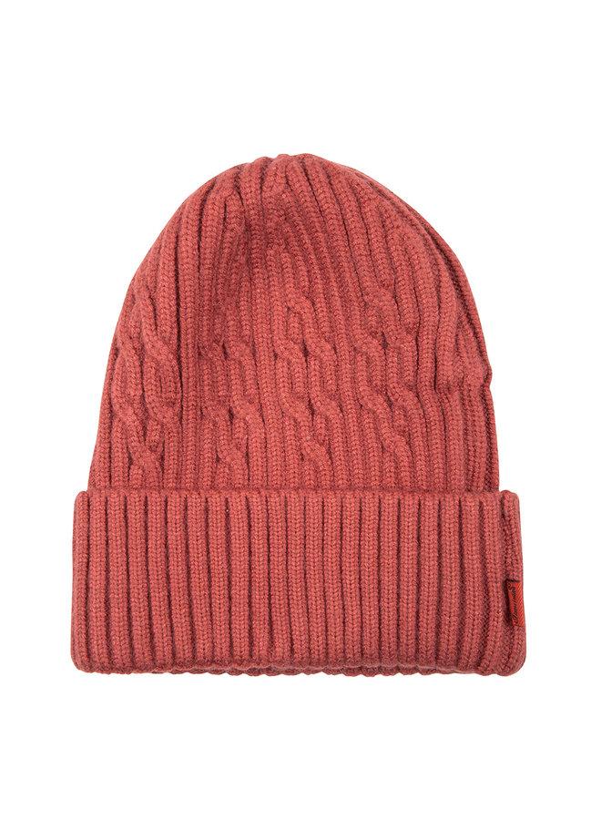 Mütze - Schöner warmer Damenhut - Rot
