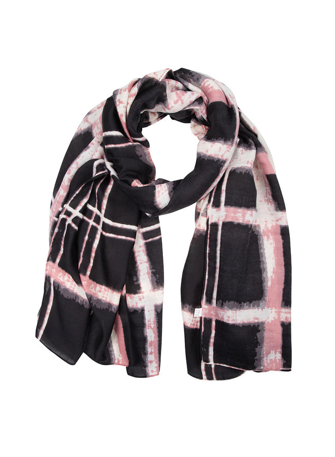 Sjaal dip dye blauw -roze