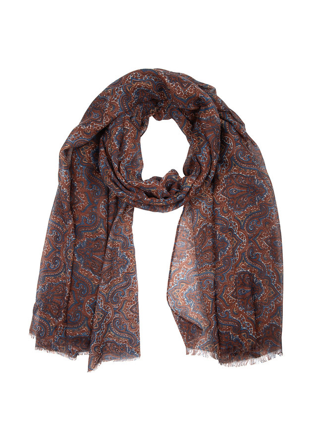 Scarf paisley -brown