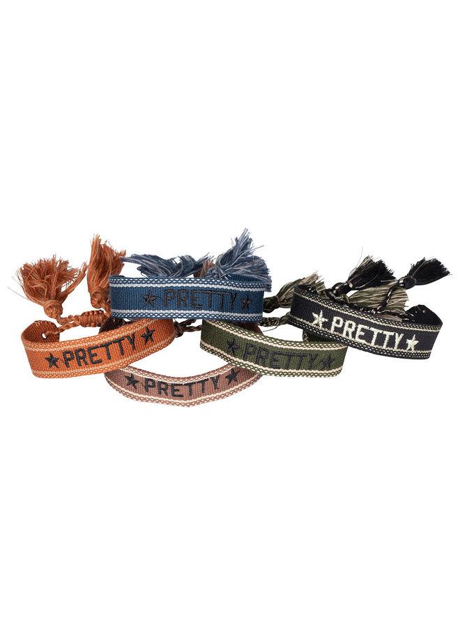 Bohemian quote bracelets: PRETTY