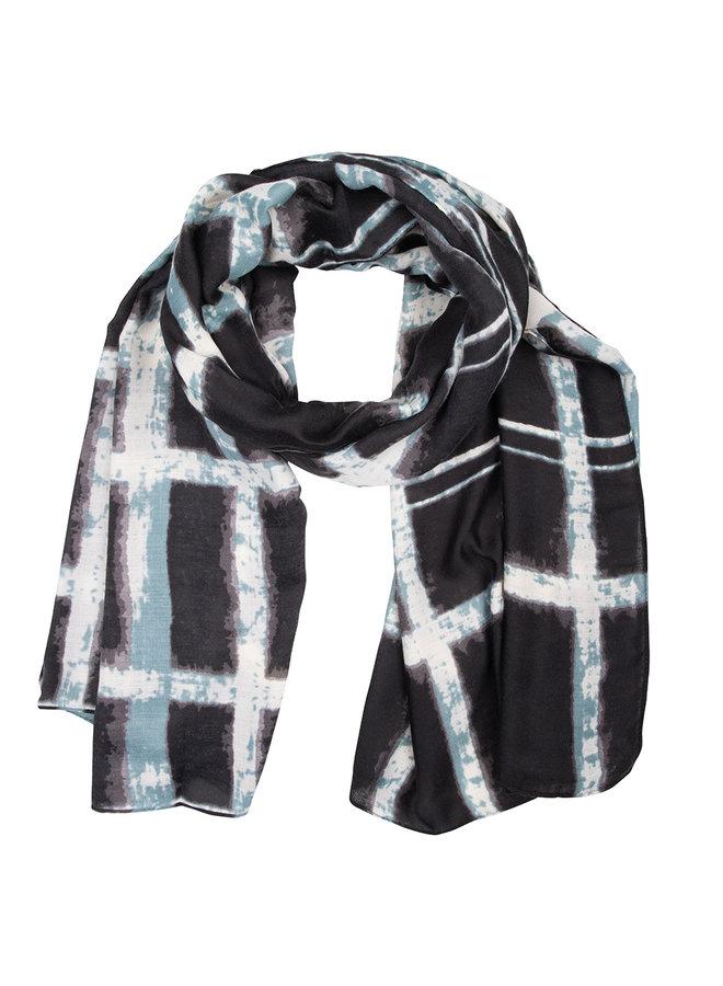 Sjaal dip dye blauw -aqua