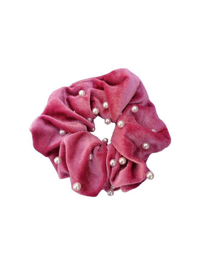 Scrunchie Parel Roze