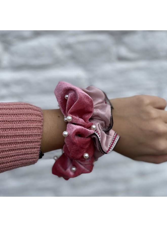 Jozemiek Scrunchie Ribbon Pink