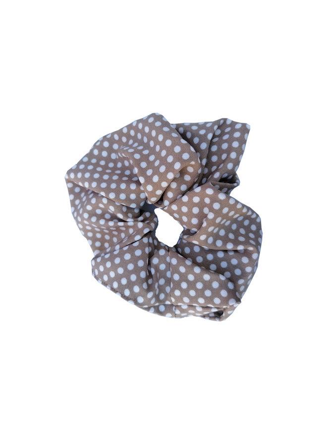 Scrunchie Dots beige
