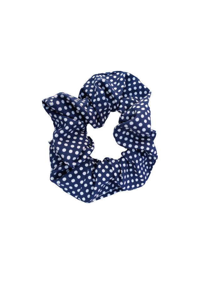 Scrunchie Dots dunkelblau